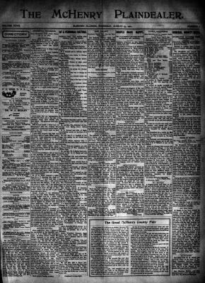 McHenry Plaindealer (McHenry, IL), 15 Aug 1901: Illinois