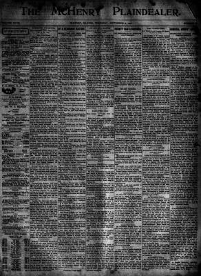 McHenry Plaindealer (McHenry, IL), 5 Sep 1901