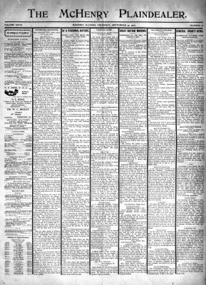 McHenry Plaindealer (McHenry, IL), 19 Sep 1901