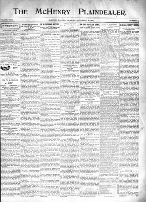 McHenry Plaindealer (McHenry, IL), 26 Sep 1901