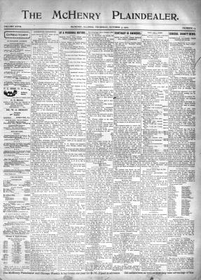McHenry Plaindealer (McHenry, IL), 3 Oct 1901