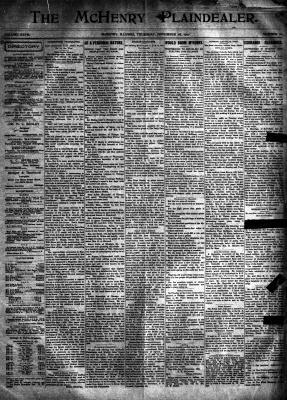 McHenry Plaindealer (McHenry, IL), 28 Nov 1901
