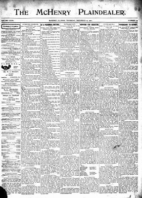 McHenry Plaindealer (McHenry, IL), 19 Dec 1901