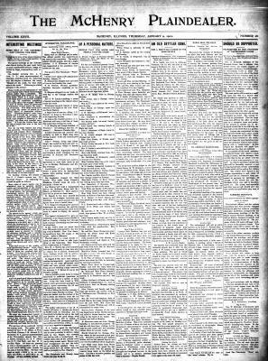 McHenry Plaindealer (McHenry, IL), 9 Jan 1902