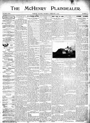 McHenry Plaindealer (McHenry, IL), 6 Feb 1902