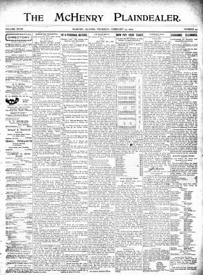 McHenry Plaindealer (McHenry, IL), 13 Feb 1902
