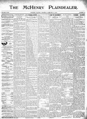 McHenry Plaindealer (McHenry, IL), 20 Feb 1902