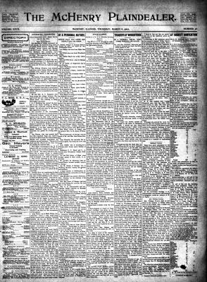 McHenry Plaindealer (McHenry, IL), 6 Mar 1902