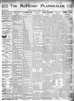 McHenry Plaindealer (McHenry, IL), 20 Mar 1902
