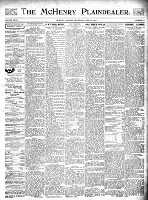 McHenry Plaindealer (McHenry, IL), 10 Apr 1902