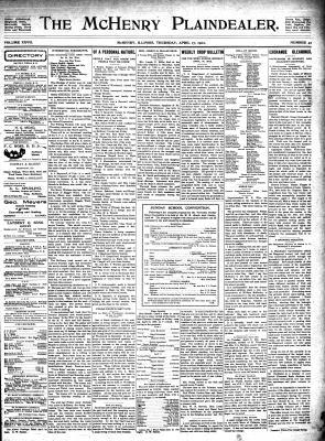 McHenry Plaindealer (McHenry, IL), 17 Apr 1902