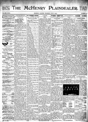McHenry Plaindealer (McHenry, IL), 8 May 1902