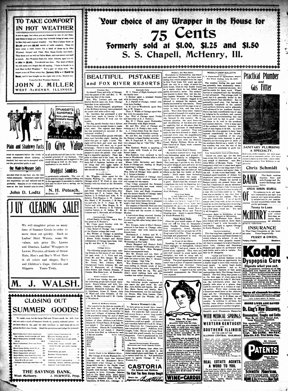 McHenry Plaindealer (McHenry, IL), 31 Jul 1902