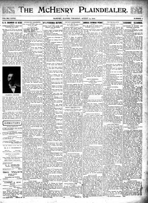 McHenry Plaindealer (McHenry, IL), 14 Aug 1902