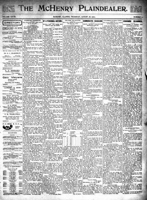 McHenry Plaindealer (McHenry, IL), 28 Aug 1902