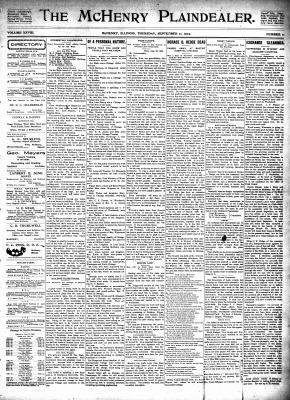 McHenry Plaindealer (McHenry, IL), 11 Sep 1902