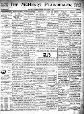 McHenry Plaindealer (McHenry, IL), 25 Sep 1902
