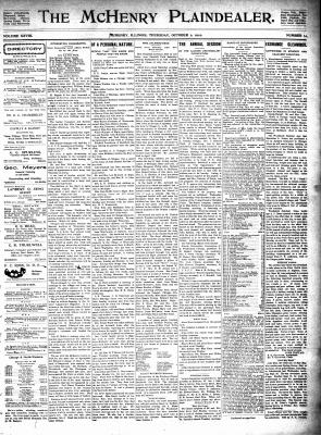 McHenry Plaindealer (McHenry, IL), 2 Oct 1902
