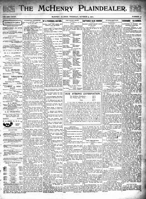 McHenry Plaindealer (McHenry, IL), 9 Oct 1902