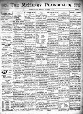 McHenry Plaindealer (McHenry, IL), 13 Nov 1902