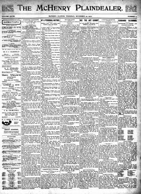 McHenry Plaindealer (McHenry, IL), 20 Nov 1902