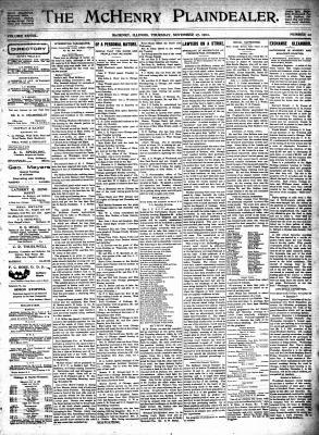 McHenry Plaindealer (McHenry, IL), 27 Nov 1902