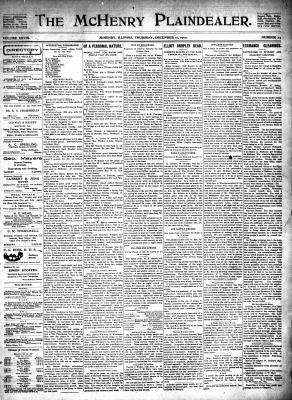McHenry Plaindealer (McHenry, IL), 11 Dec 1902