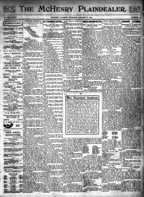 McHenry Plaindealer (McHenry, IL), 8 Jan 1903