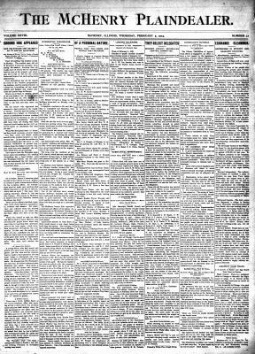 McHenry Plaindealer (McHenry, IL), 5 Feb 1903