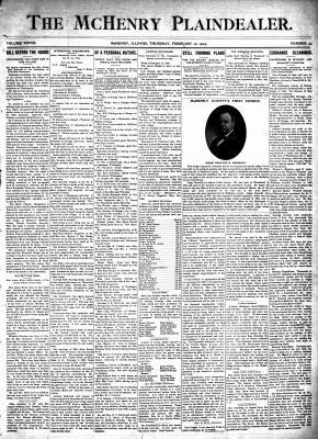 McHenry Plaindealer (McHenry, IL), 12 Feb 1903