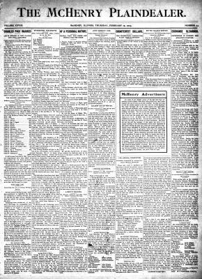 McHenry Plaindealer (McHenry, IL), 19 Feb 1903