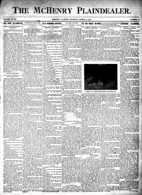 McHenry Plaindealer (McHenry, IL), 5 Mar 1903