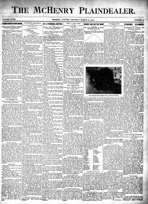 McHenry Plaindealer (McHenry, IL), 12 Mar 1903