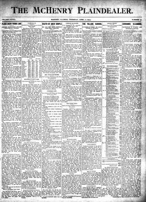 McHenry Plaindealer (McHenry, IL), 2 Apr 1903