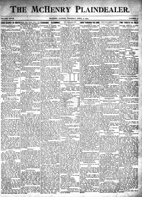 McHenry Plaindealer (McHenry, IL), 9 Apr 1903