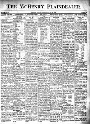 McHenry Plaindealer (McHenry, IL), 30 Apr 1903