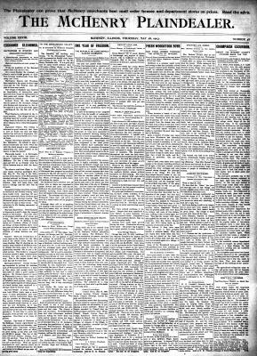 McHenry Plaindealer (McHenry, IL), 28 May 1903