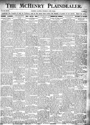 McHenry Plaindealer (McHenry, IL), 18 Jun 1903