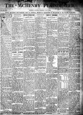 McHenry Plaindealer (McHenry, IL), 2 Jul 1903