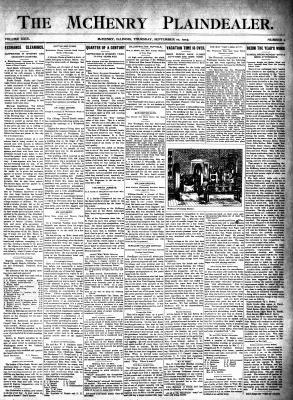 McHenry Plaindealer (McHenry, IL), 10 Sep 1903