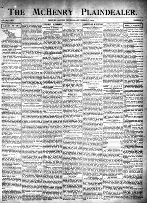 McHenry Plaindealer (McHenry, IL), 17 Sep 1903