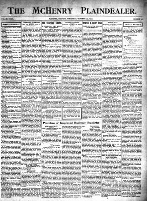 McHenry Plaindealer (McHenry, IL), 29 Oct 1903