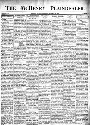 McHenry Plaindealer (McHenry, IL), 19 Nov 1903