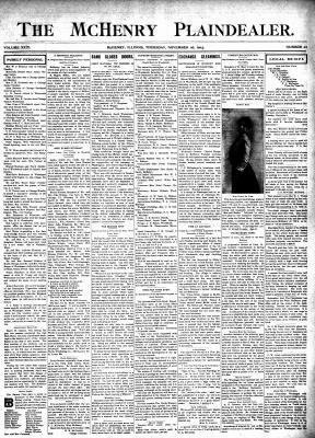 McHenry Plaindealer (McHenry, IL), 26 Nov 1903