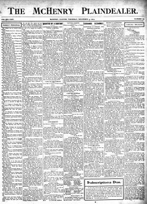 McHenry Plaindealer (McHenry, IL), 3 Dec 1903