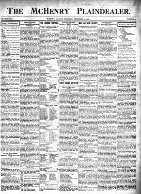 McHenry Plaindealer (McHenry, IL), 10 Dec 1903