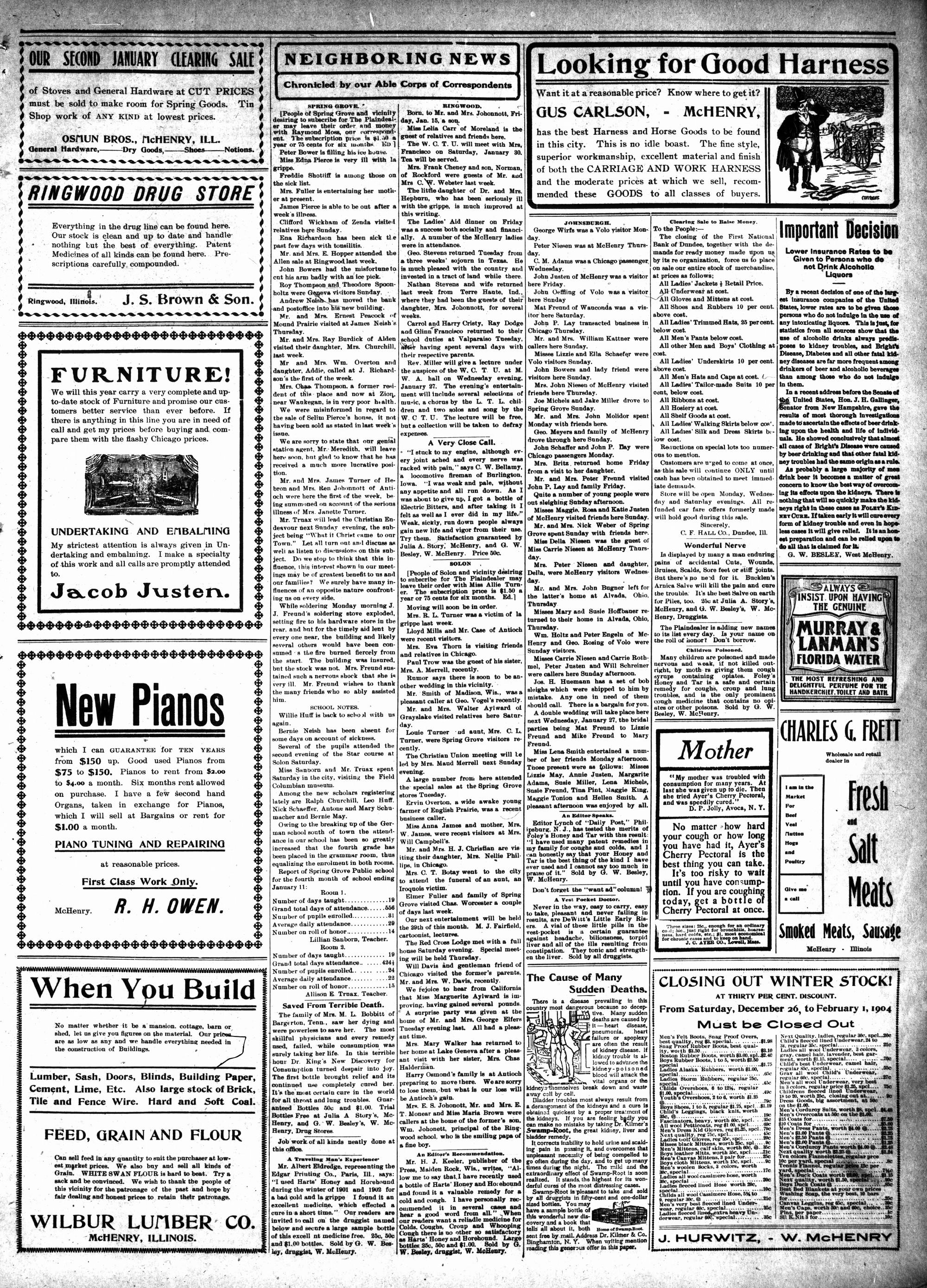 McHenry Plaindealer (McHenry, IL), 21 Jan 1904