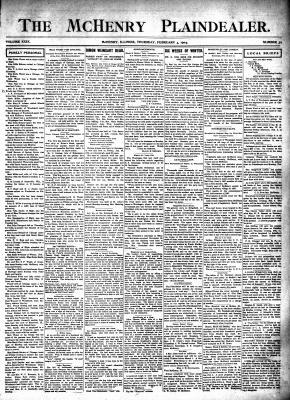 McHenry Plaindealer (McHenry, IL), 4 Feb 1904