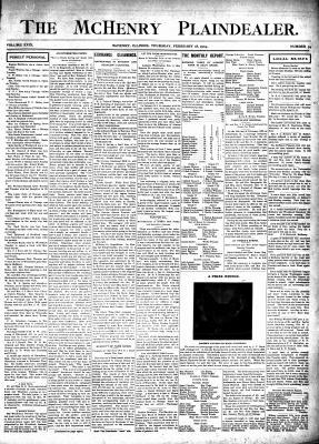 McHenry Plaindealer (McHenry, IL), 18 Feb 1904