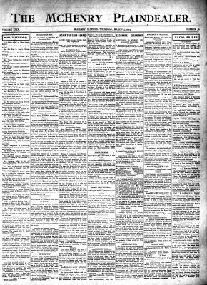 McHenry Plaindealer (McHenry, IL), 3 Mar 1904